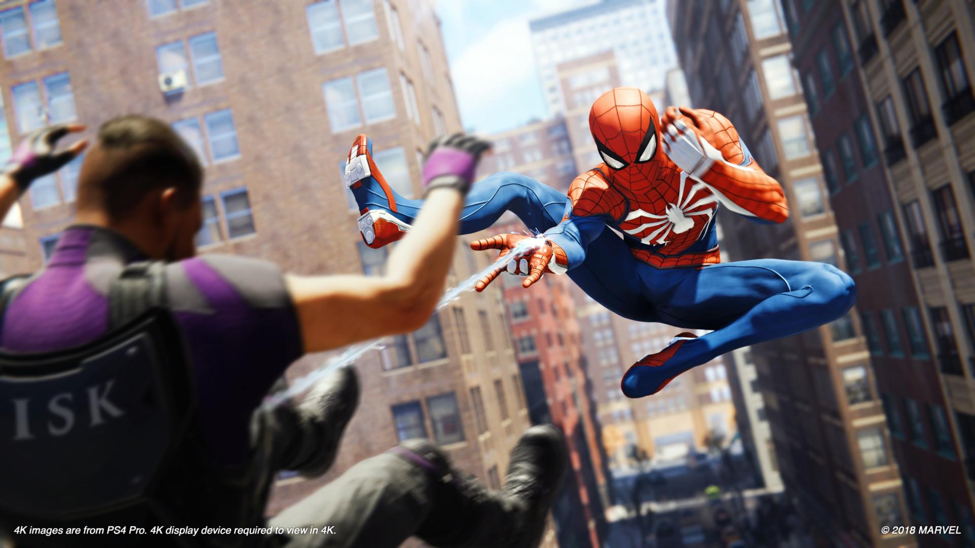 Pura acción: así es Spider Man