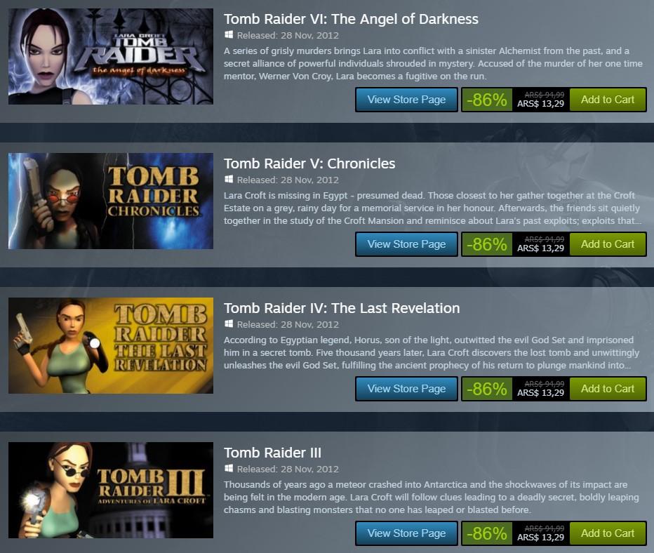 Ofertas en Steam: Tomb Raider