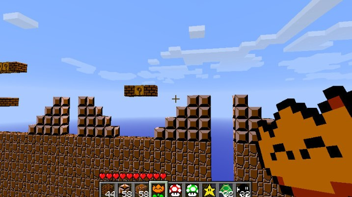 El universo de Mario, en Minecraft