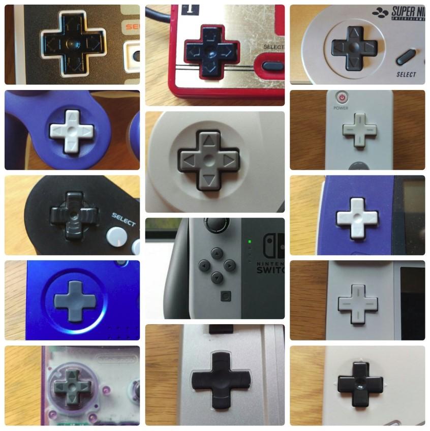 Los D-Pad, siempre presente en Nintendo, menos en Switch