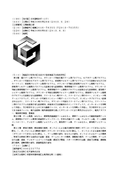 Patentes de Gamecube registradas