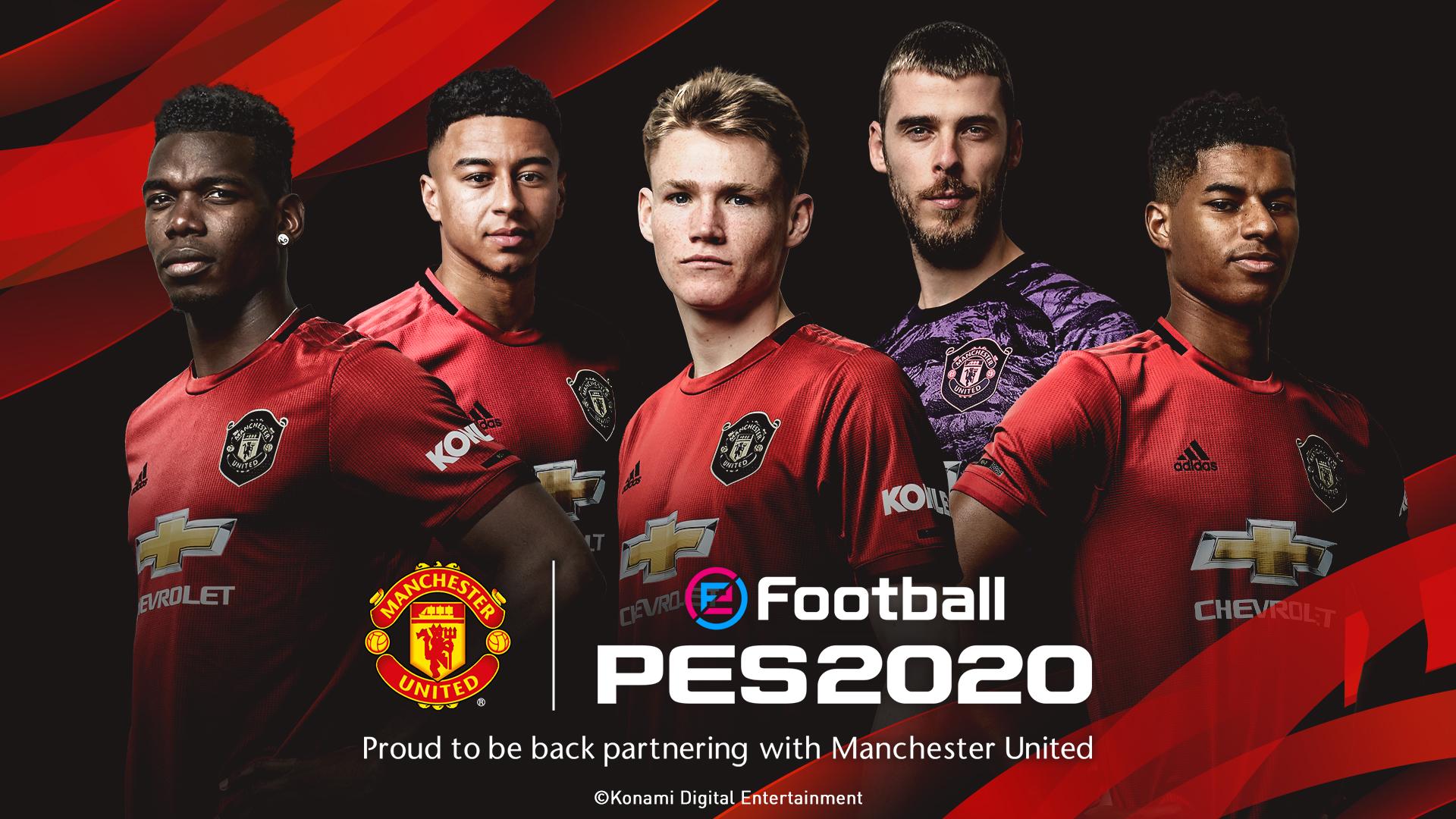 "Manchester United, el ""gigante"" inglés que se suma oficialmente al PES 2020"