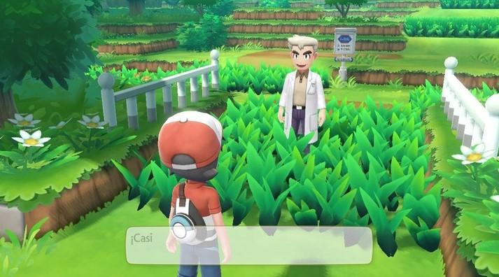 El encuentro con un viejo conocido: el profesor Oak. (Captura del juego)