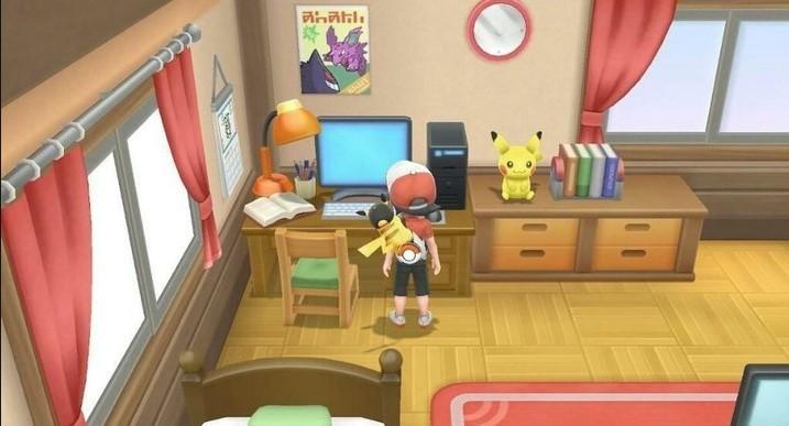 Pokémon Let's Go Pikachu: una imagen nostálgica en el cuarto del protagonista