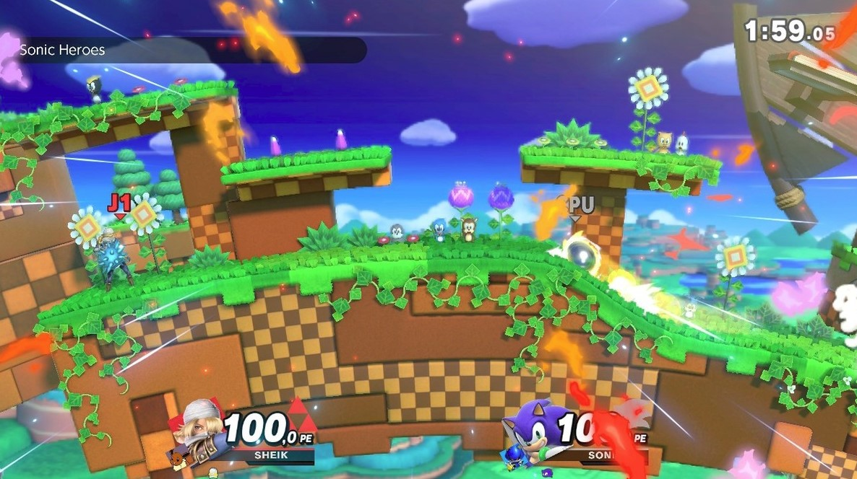 Sonic, en su habitat natural. (Nintendo)
