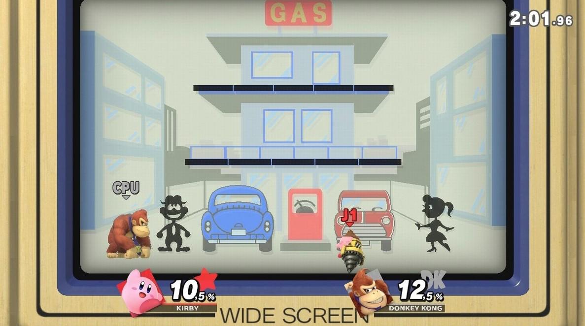 El escenario de Game and Watch. (Nintendo)