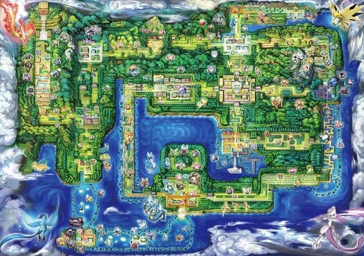 Kanto, la región donde se desarrolla Pokémon Let's Go