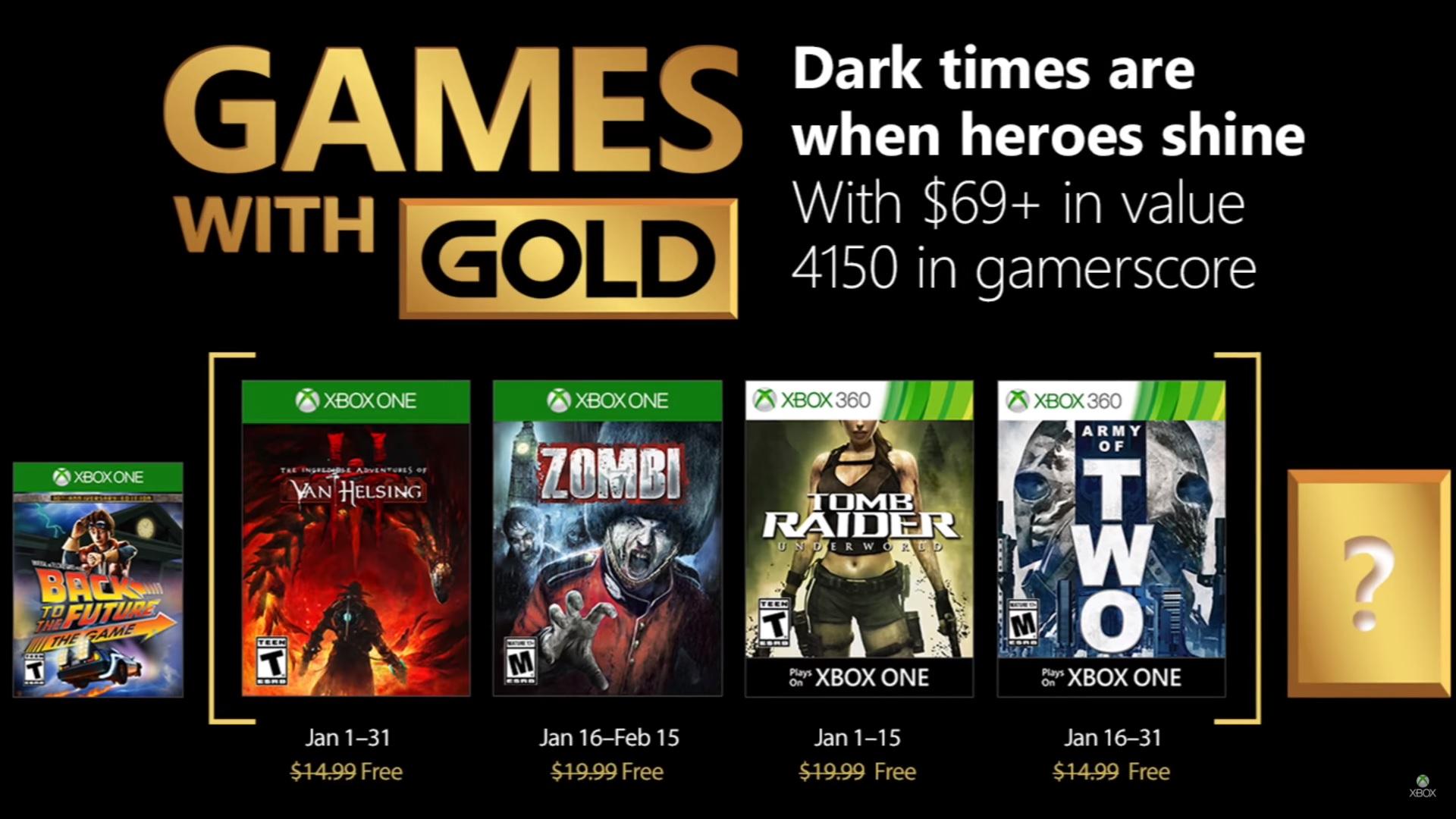 Microsoft anunció los Games with Gold para enero: Llegó el momento de los héroes