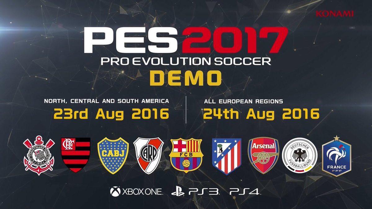 PES 2017 tiene su demo