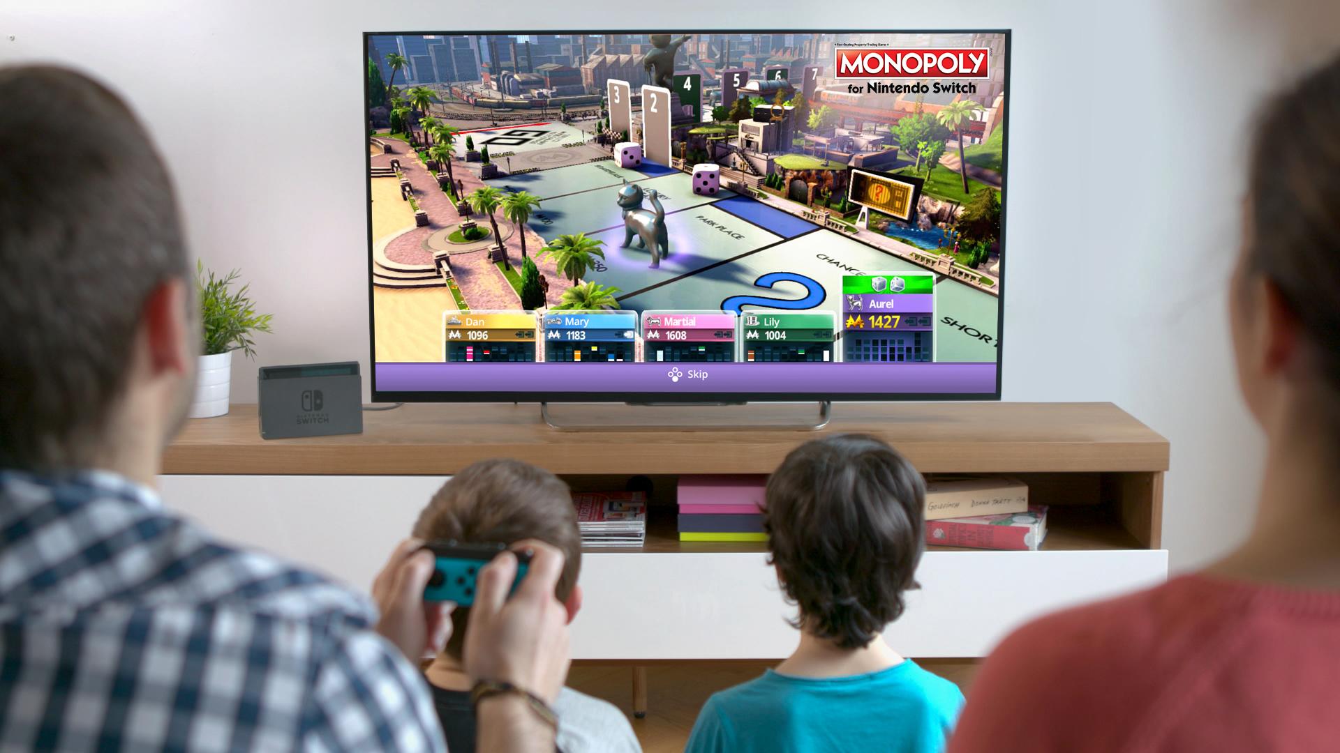 Monopoly llega a Nintendo Switch de la mano de Ubisoft y Hasbro