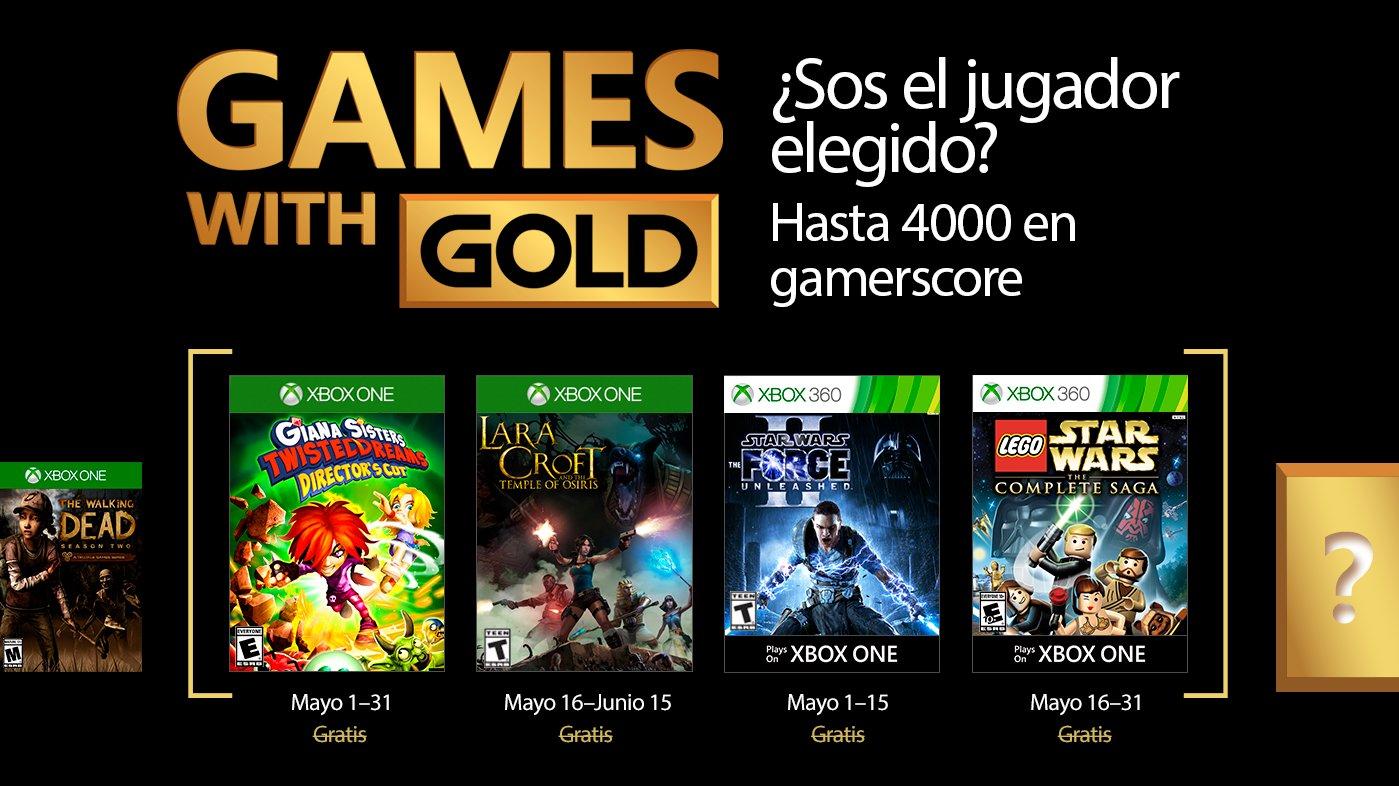 Xbox anunció los Games With Gold para mayo!