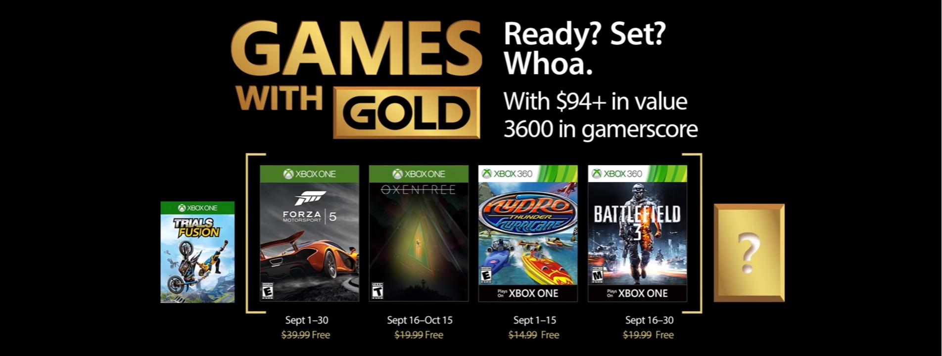 Estos son los Games With Gold de Xbox para septiembre