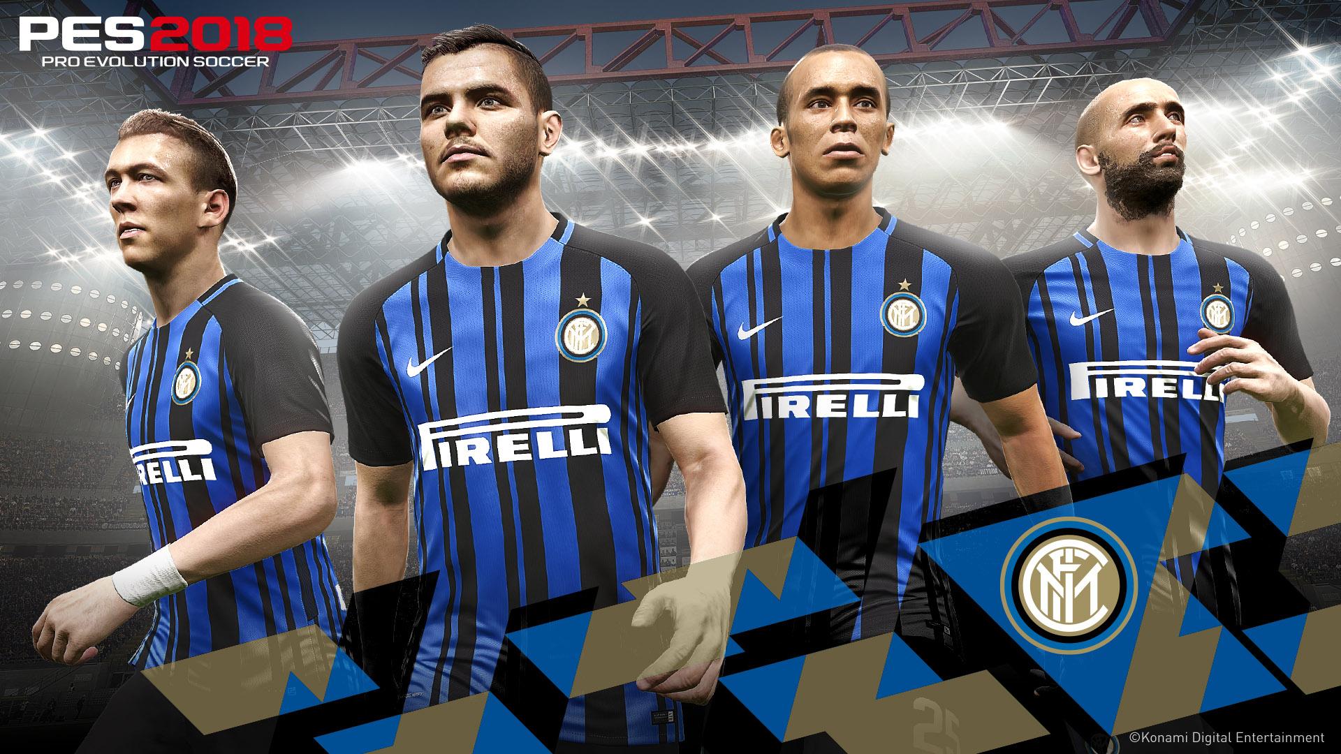 Inter de Milán, nuevo partner de PES 2018