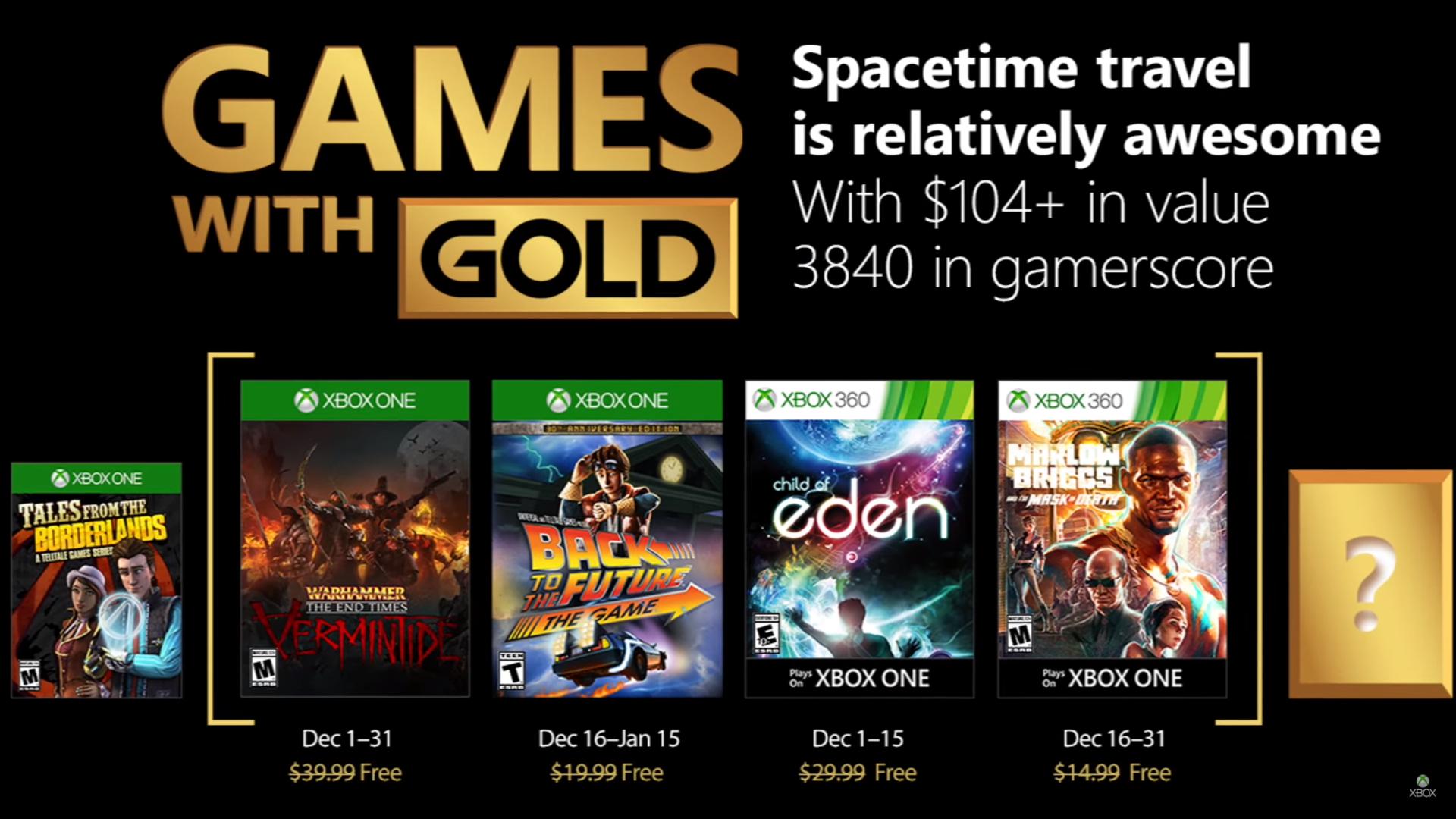 Estos son los Games With Gold de Xbox para Diciembre