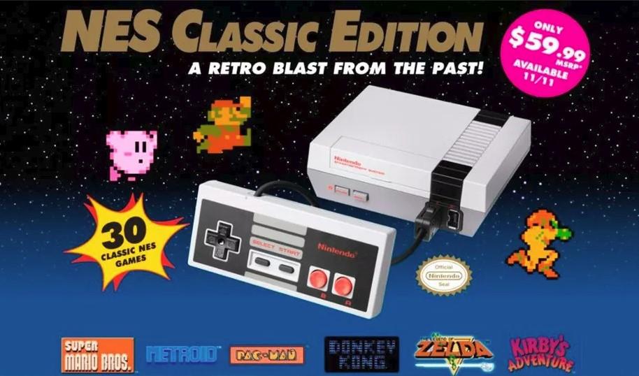 Ni PS4, ni Xbox One ni Switch: la consola más vendida de junio fue la NES Mini en Estados Unidos