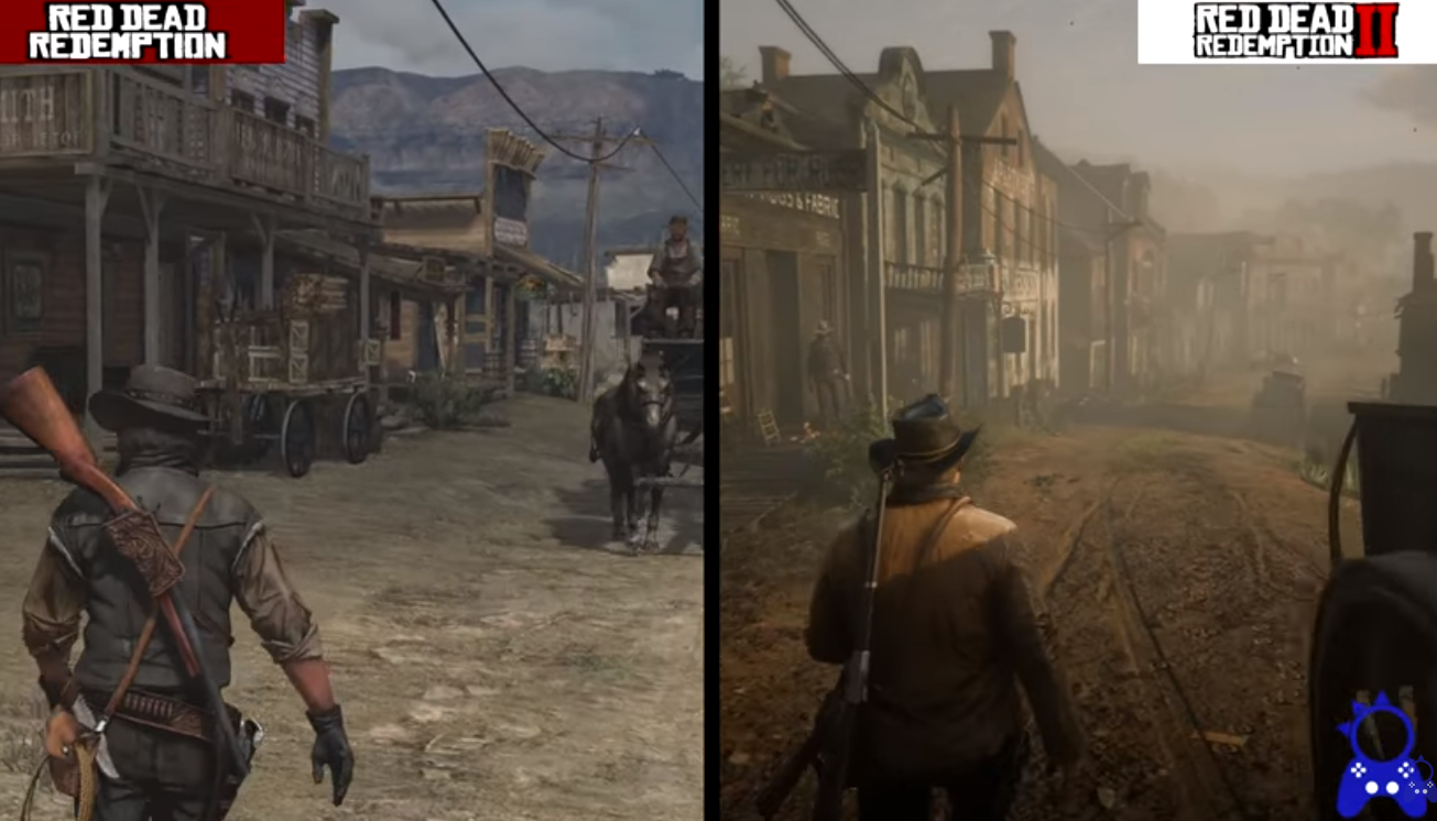 Compararon en un video los gráficos de Red Dead Redemption 2 con el original