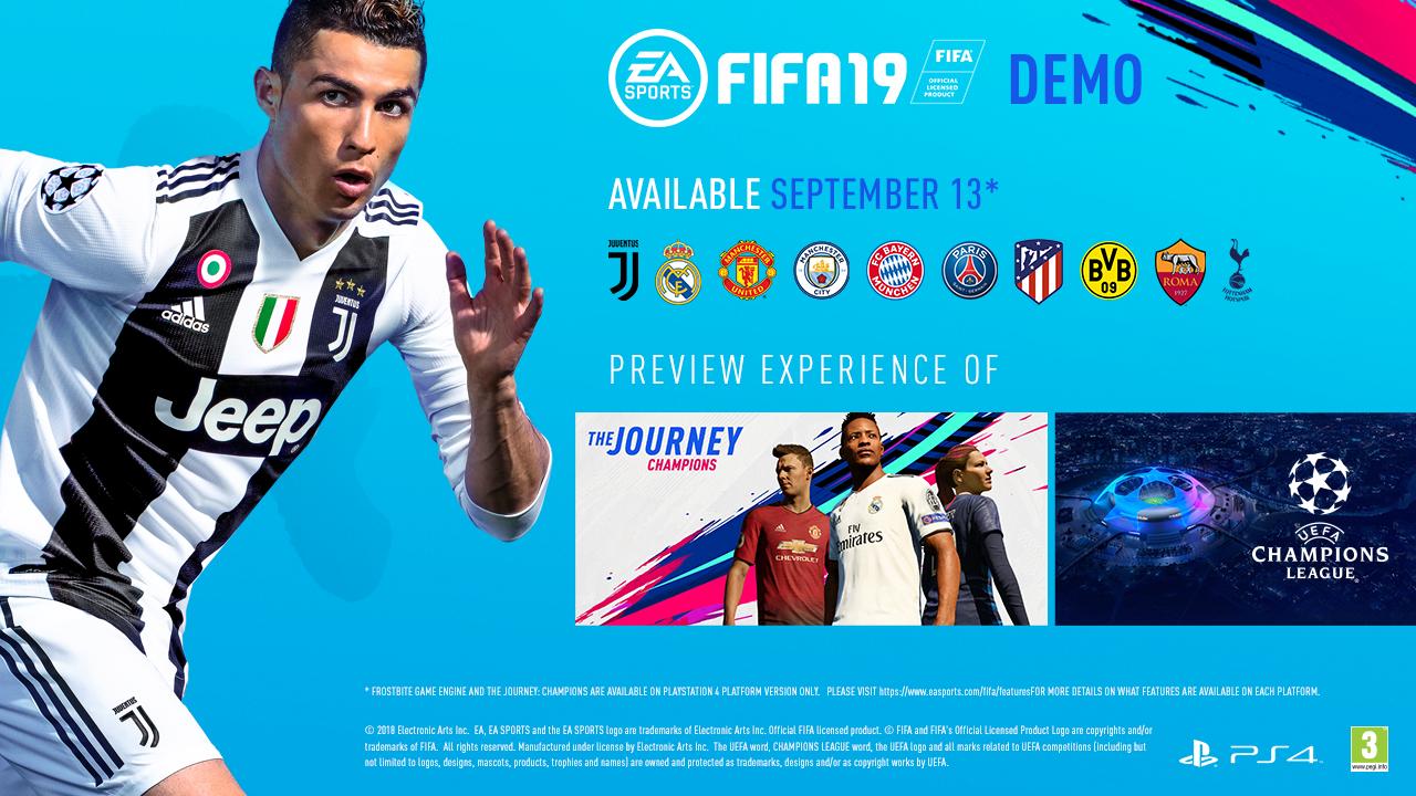 El próximo jueves sale la Demo de FIFA 19: descubrí acá todo lo que trae