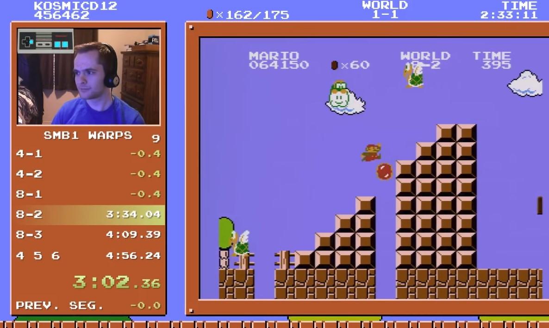 Rompieron el récord mundial de Super Mario Bros: fue un speedrunner que terminó el juego unas 40.000 veces