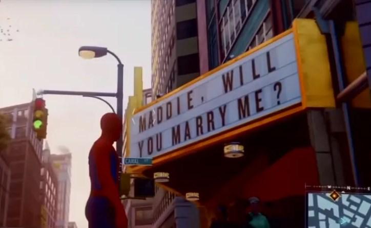 Marvel's Spider Man tiene el easter egg más triste de la historia: un fan le pidió casamiento, pero las cosas no salieron del todo bien
