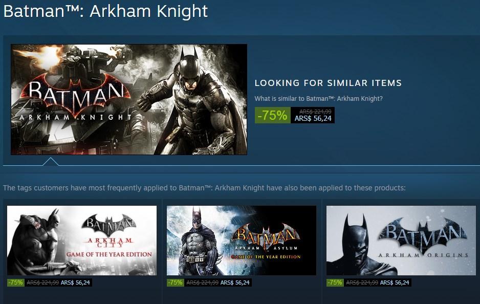 Descuentos en los juegos de Batman
