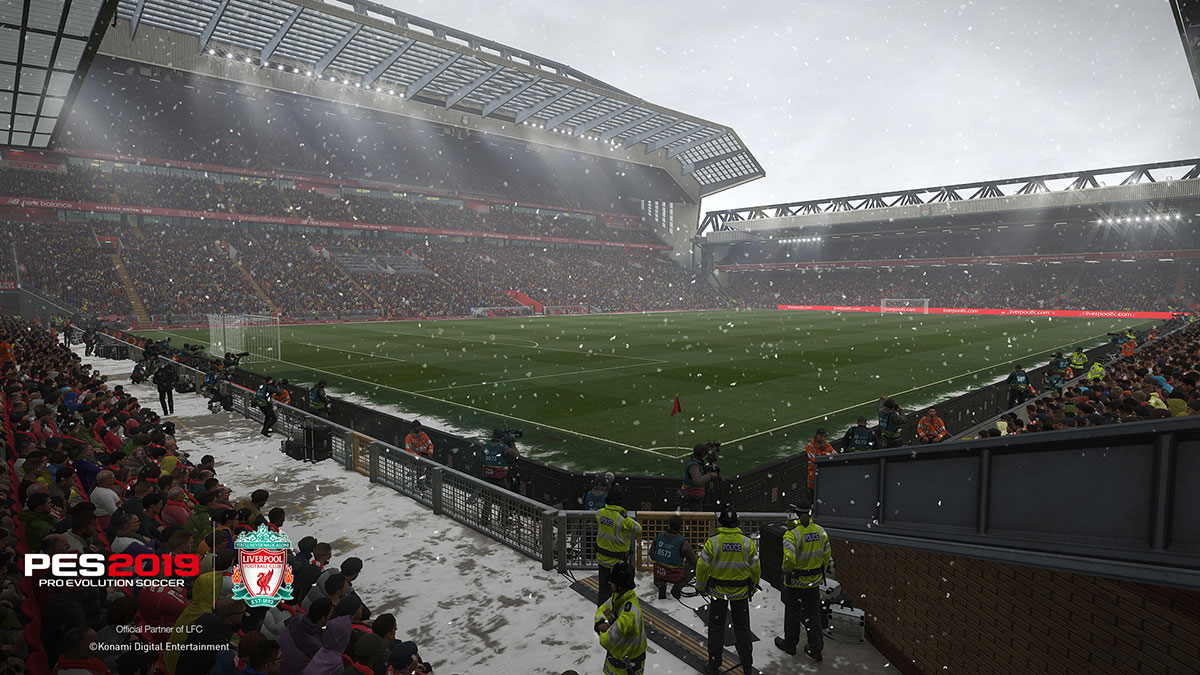 Anfield en PES 2019: el estadio se ve espectacular
