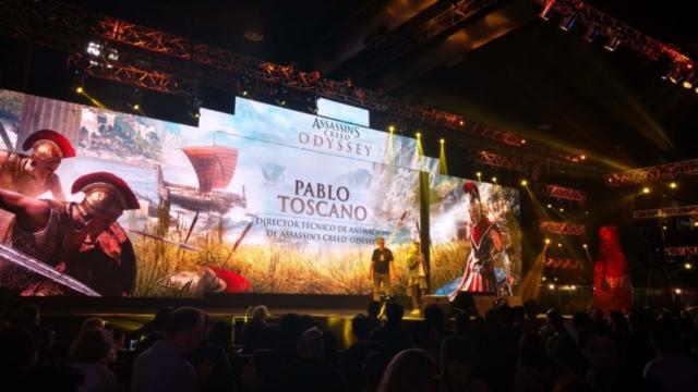 Pablo Toscano, en su charla por Assasisin's Creed