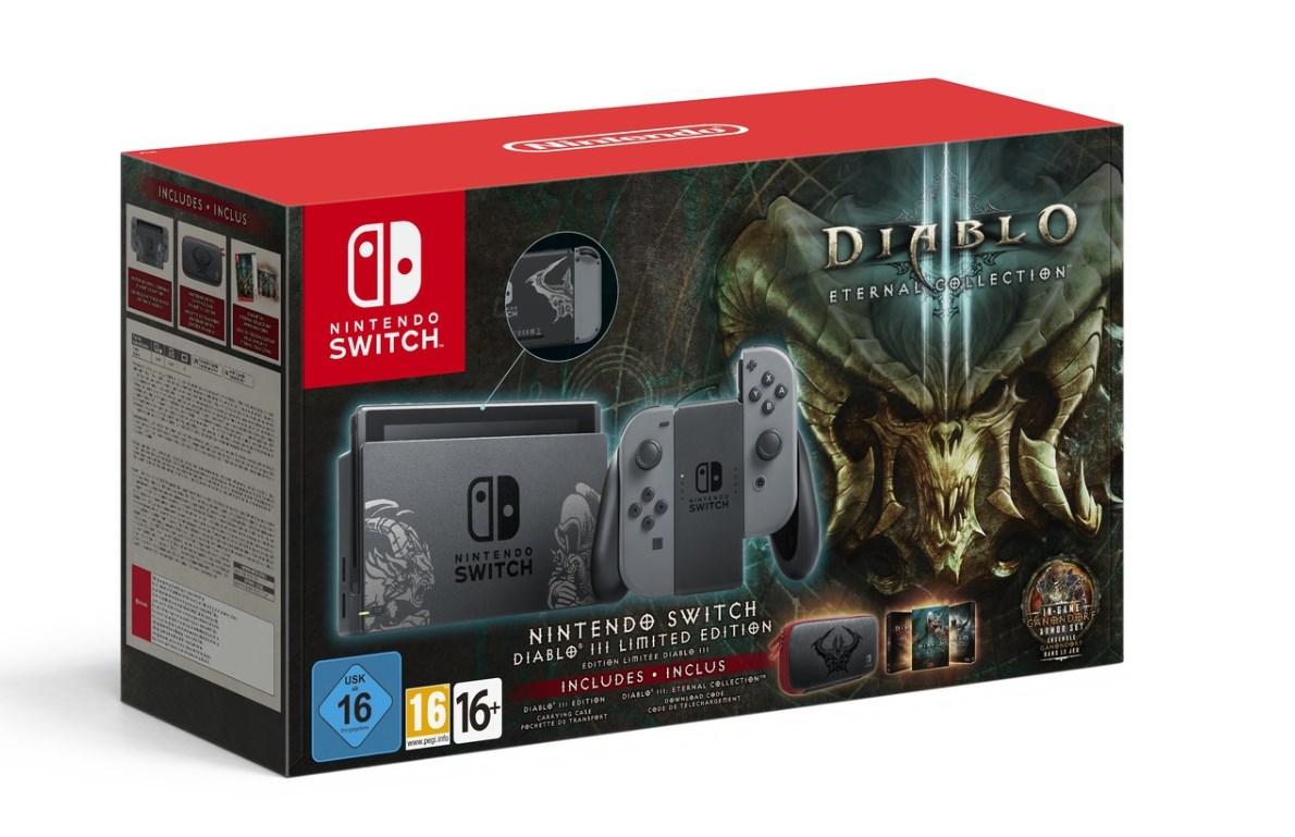 Nintendo Switch presentó su versión tematizada con Diablo III y se ve espectacular