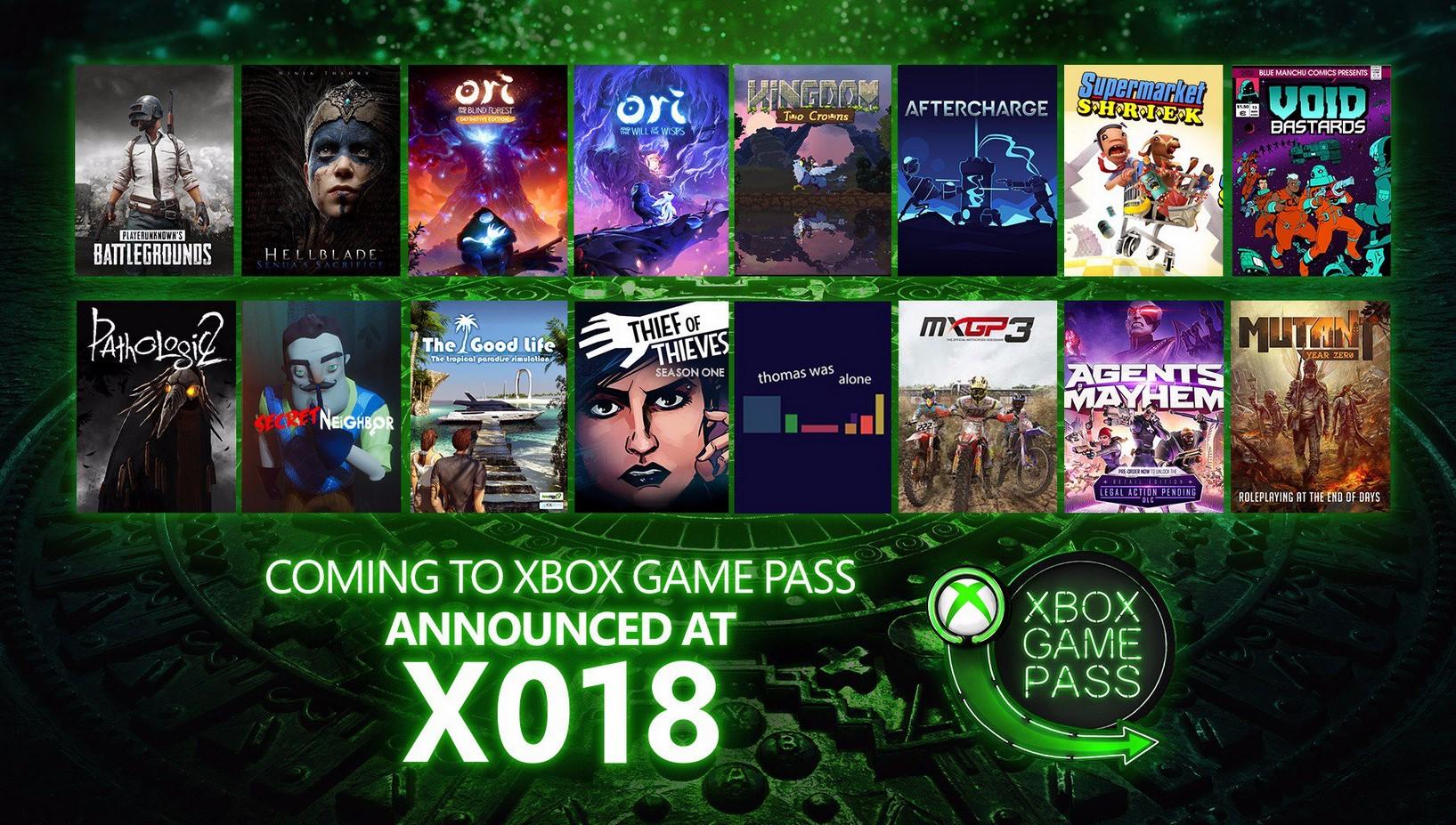 X018: Game Pass ya tiene una app para móviles y 16 nuevos juegos con PUBG a la cabeza