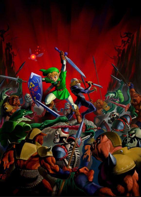 Un póster promocional del juego en 1998