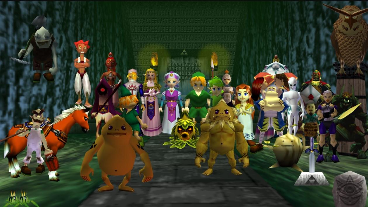 Ocarina of time contaba con una gran cantidad de NPC para la época
