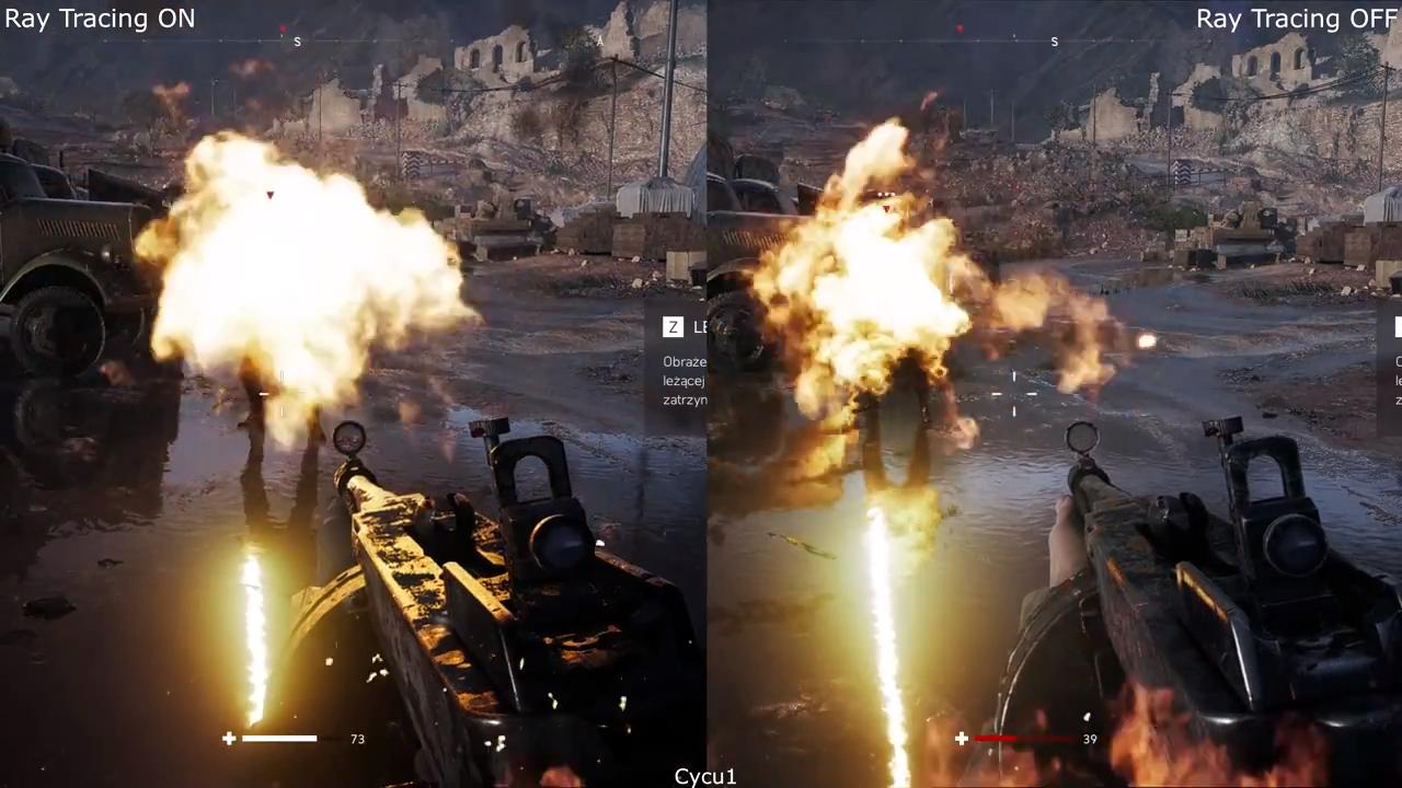 Este video compara Battlefield V con y sin Ray-Tracing en la máxima resolución