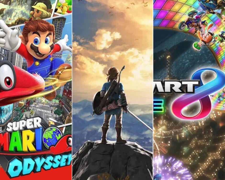 IGN: La mitad de los usuarios de Nintendo Switch compraron Breath of the Wild, Mario Odyssey y Mario Kart 8