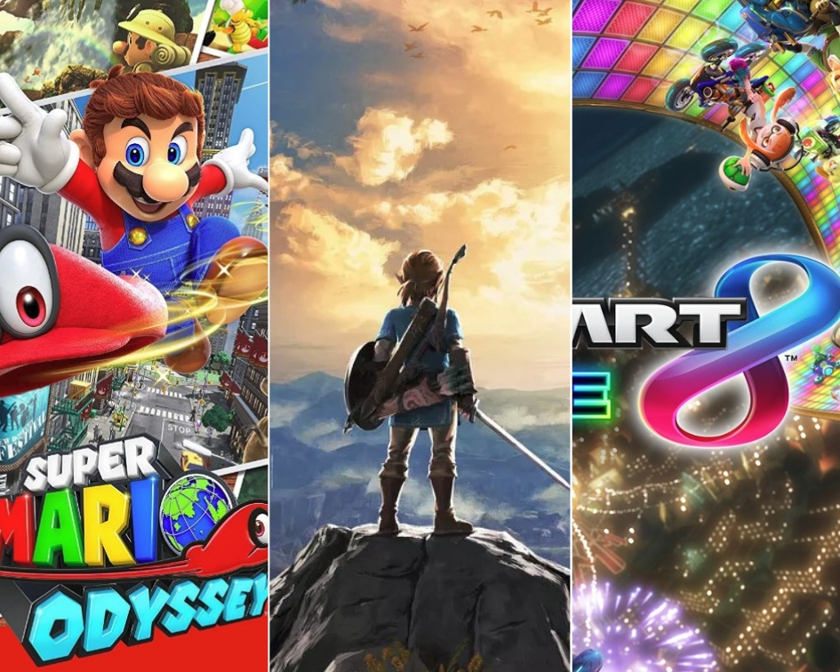 IGN: La mitad de los usuarios de Nintendo Switch compraron Breath of the Wild, Mario Odyssey y Mario Kart 8