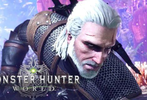 """Monster Hunter World """"invita"""" al asesino profesional de monstruos número 1: Geralt de Rivia"""