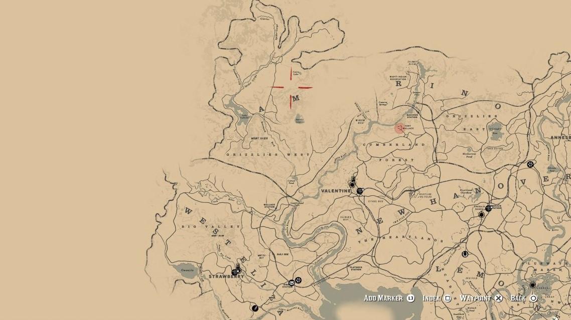 El inmenso mapa de Red Dead Redemption 2