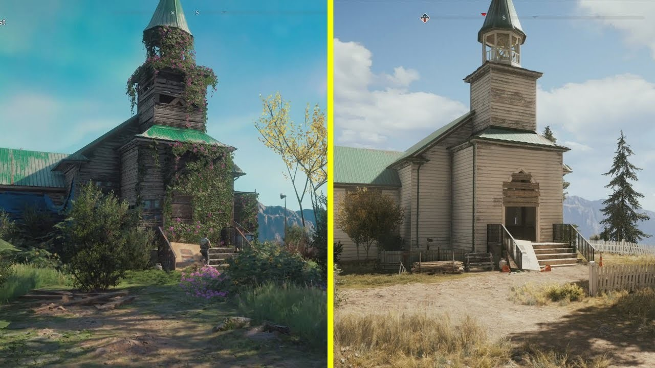 Far Cry New Dawn frente a Far Cry 5: la evolución de Hope County en un video comparativo