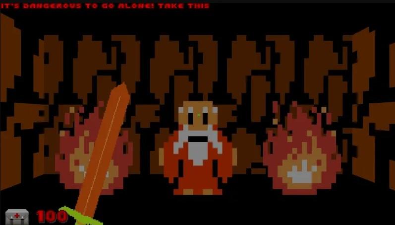 Un modder está recreando The Legend of Zelda en Doom