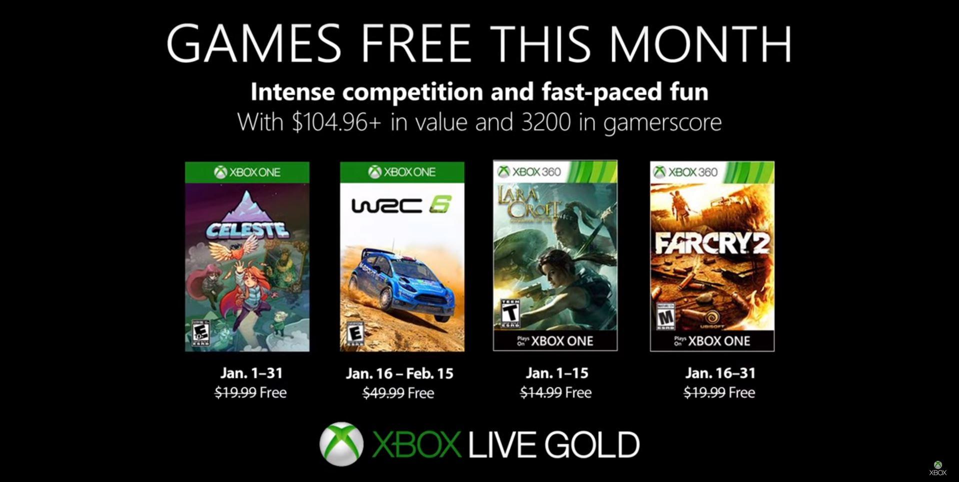 Xbox anunció los juegos gratuitos de Games with Gold de enero que llegan con uno de los mejores juegos del año
