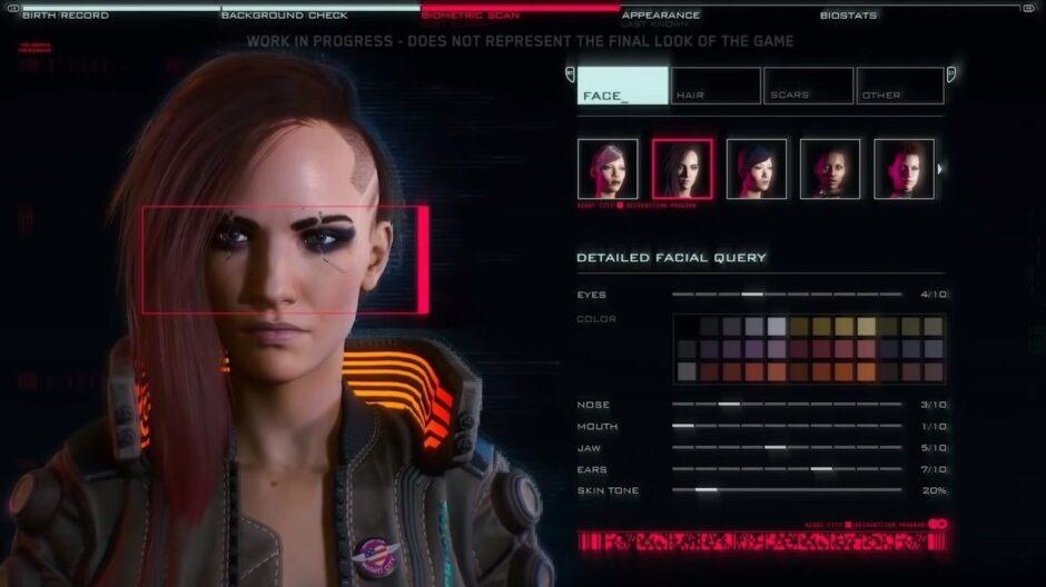 Cómo es el creador de personajes de Cyberpunk 2077: se filtraron las imágenes