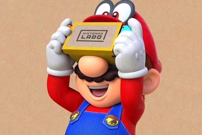 Super Mario Odyssey y Zelda: Breath of the Wild se podrán jugar en VR: aumentaron las ventas de kits de Nintendo Labo