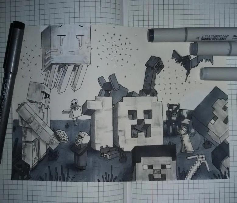 Minecraft. Foto: k0ella (Reddit)