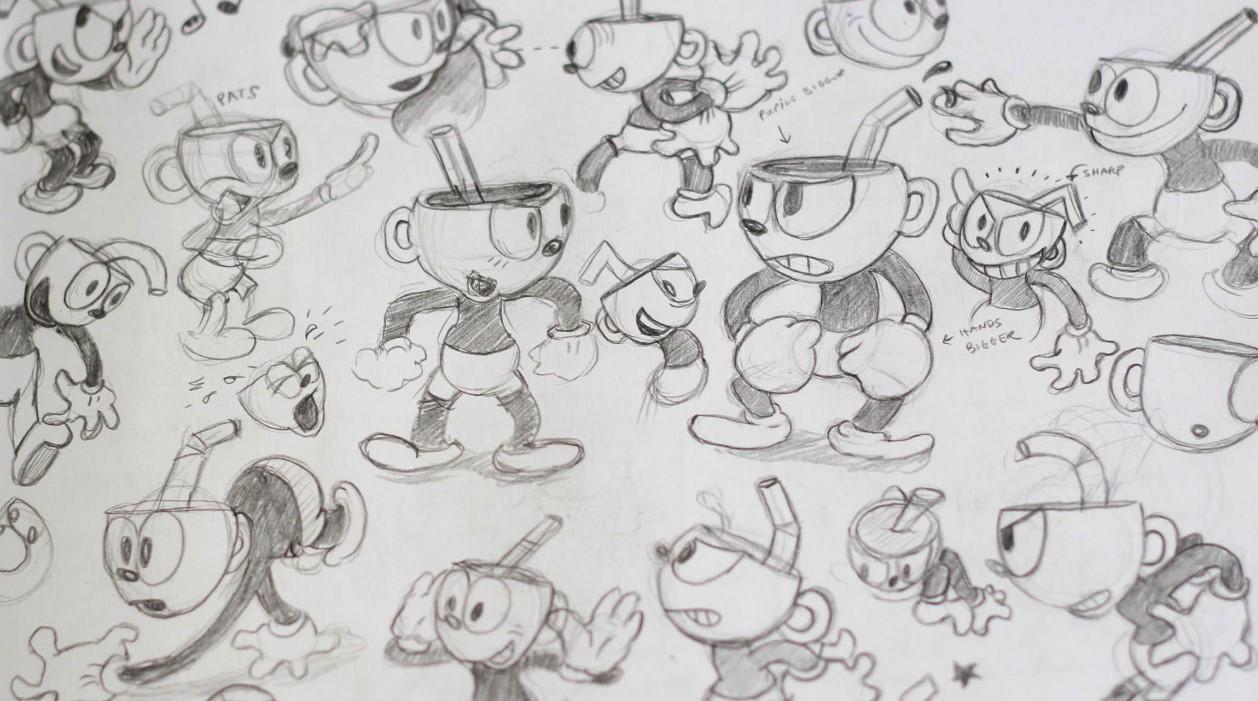 Cuphead: los dibujos originales