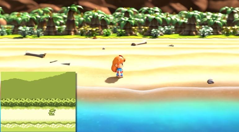 El comienzo de Link's Awakening en Game Boy y Switch