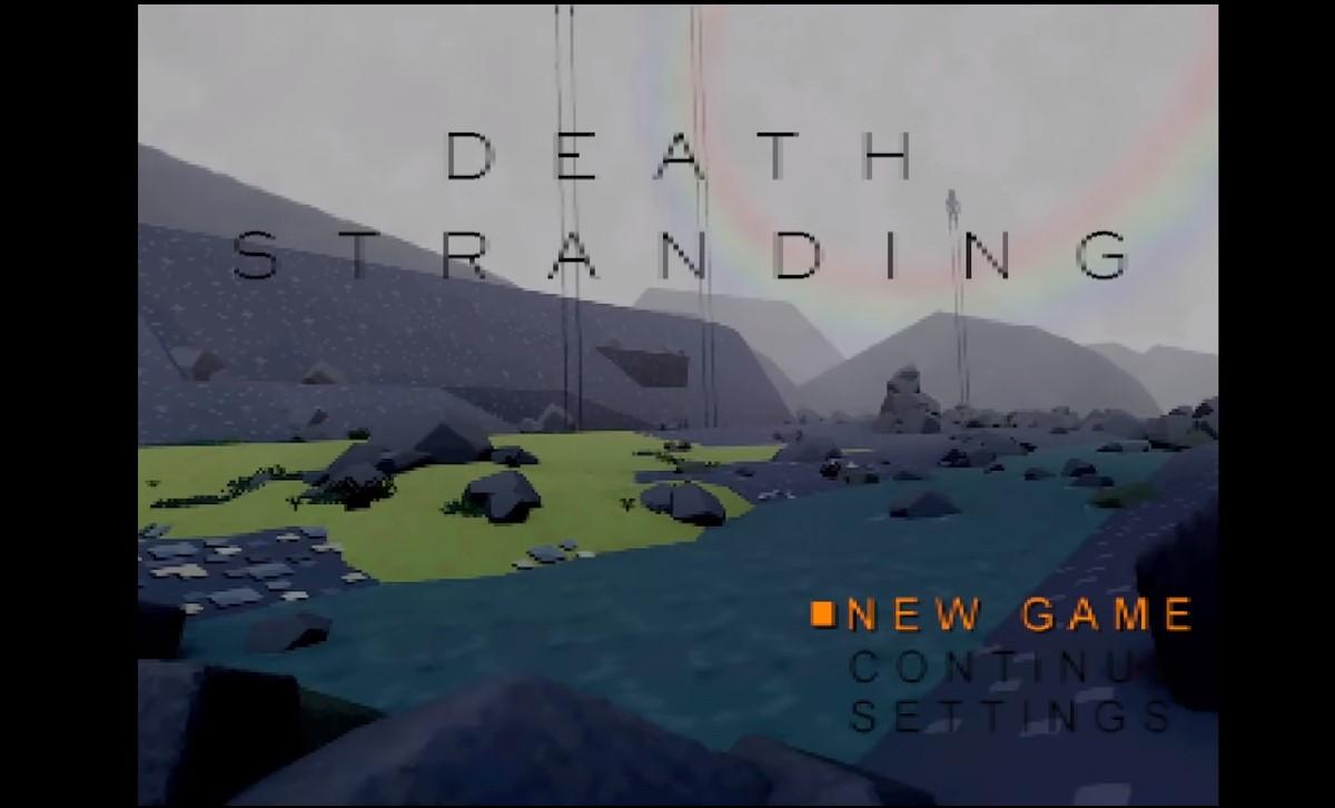 Revelan una curiosa versión de Death Strading para la PS One
