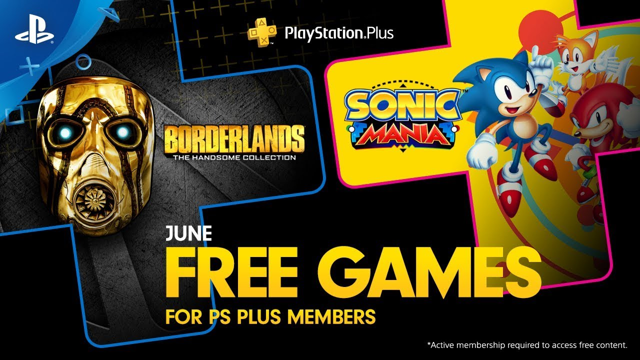 Sonic y Borderlands se suman a los juegos gratuitos de PS Plus en junio