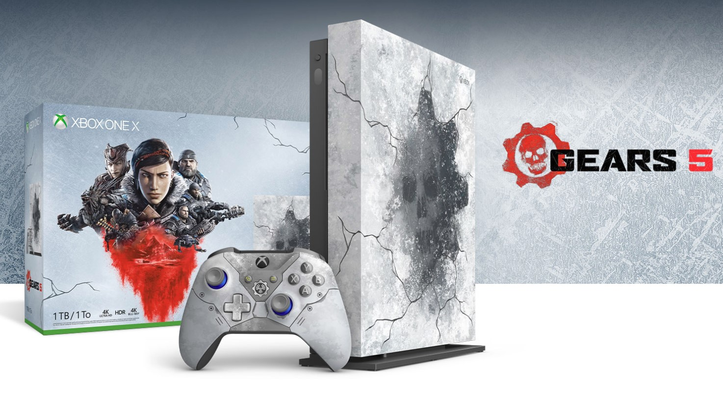 Gears 5: la nueva edición limitada de Xbox One X se ve increíblemente helada