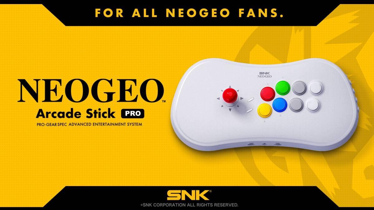 Confirmaron el NEOGEO Arcade Stick Pro, el joystick arcade que se transforma en consola