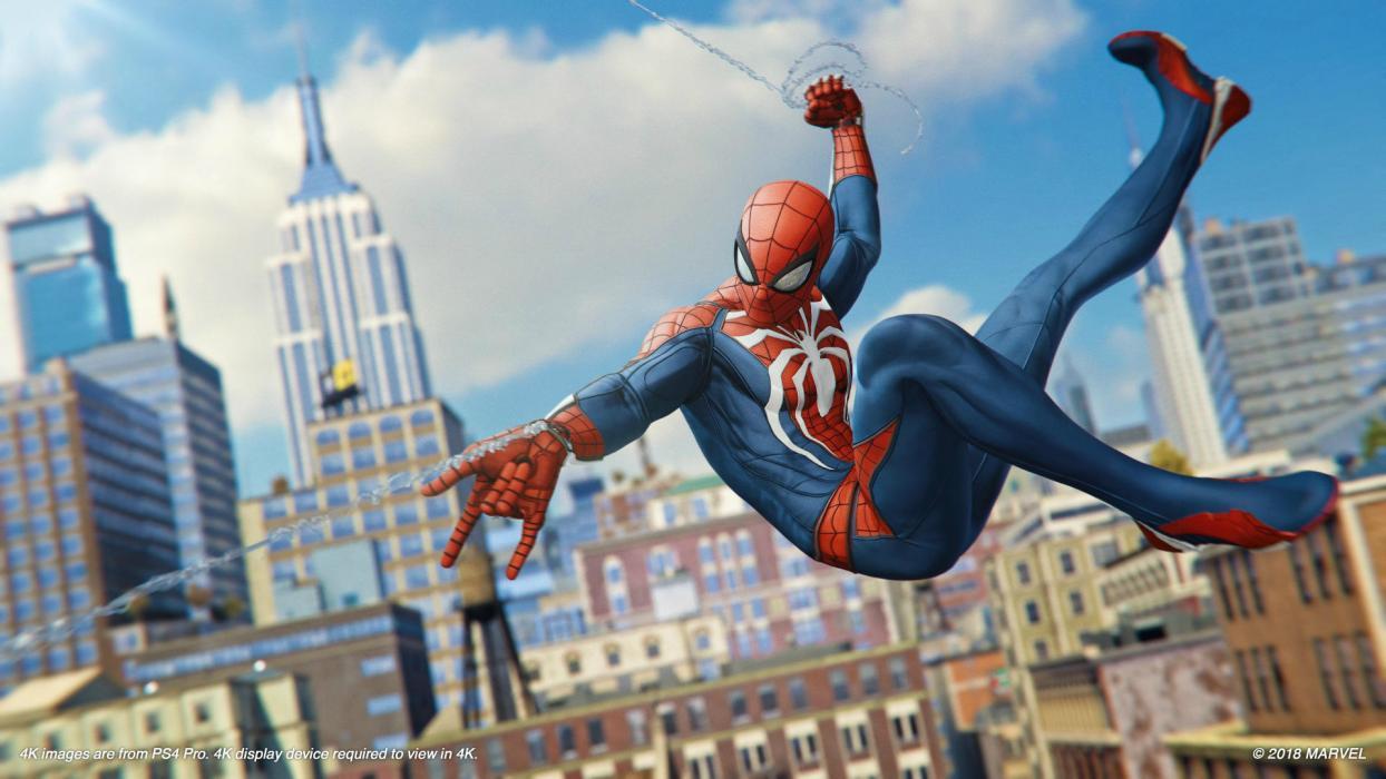 Un fan recreó la escena de introducción de la película The Amazing Spider Man 2 con el Spider Man de PS4
