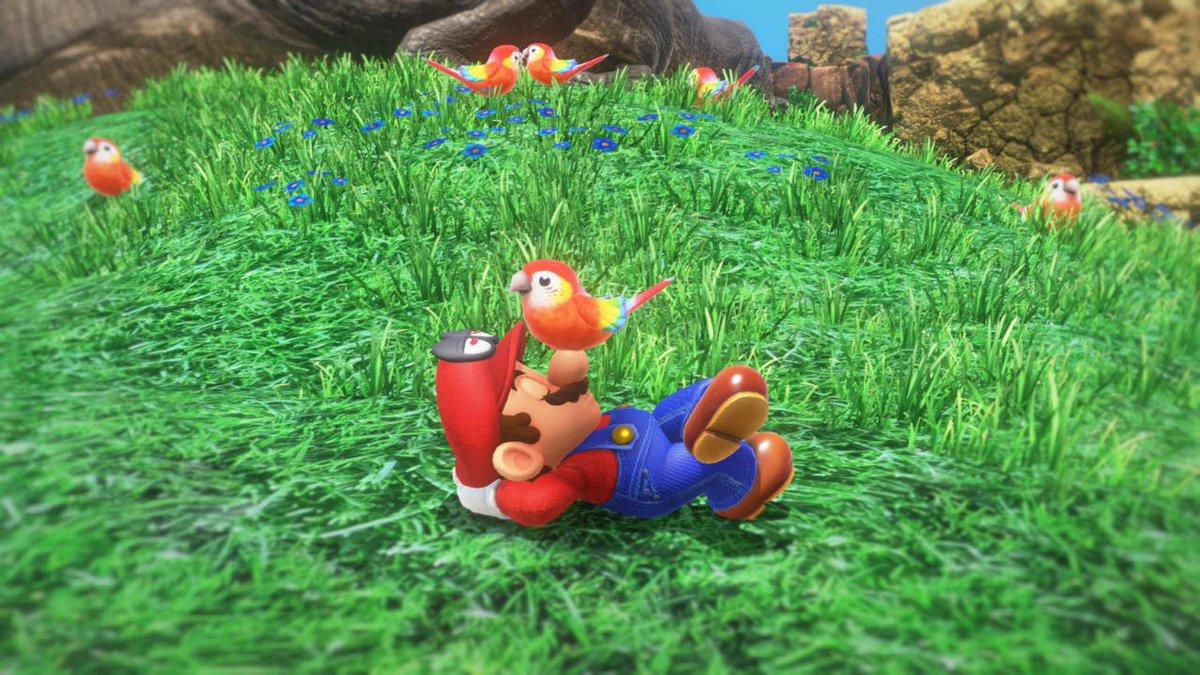 En Super Mario Odyssey, Mario sueña con treinta pastas distintas