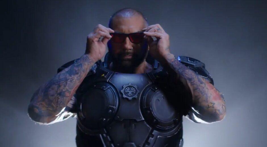 Dave Bautista, de Guardianes de la Galaxia, cumple uno de sus sueños en Gears of War 5